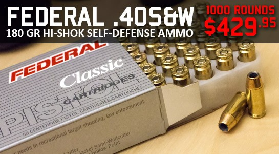 Federal LE 40 S&W 180gr JHP Hi-Shok Self Defense Ammo On Sale Today!!!